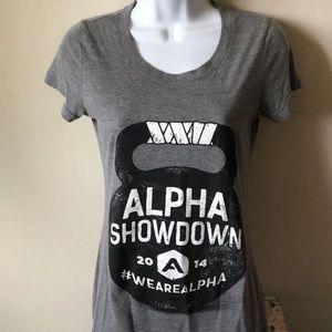 Alpha showdown tee by Bella.